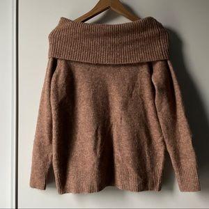 Aritzia Wilfred camel Faretta sweater size small